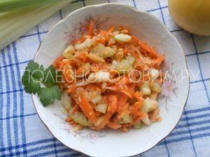 салат с морковью с яблоком