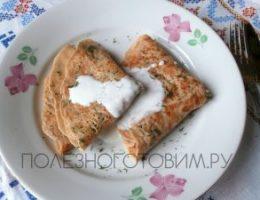 Миниатюра к статье Блины с сыром и зеленью на кипятке. Ммм… очень вкусные блинчики