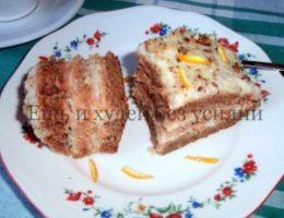 Миниатюра к статье Диетический торт из моркови с необычным лимонным кремом