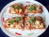 Миниатюра к статье ПП пицца с куриной грудкой вместо теста: яркое, простое и вкусное второе блюдо