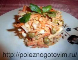Миниатюра к статье Вкусный салат с кальмарами