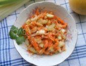 Миниатюра к статье Мега полезный салат с морковью, яблоком и стеблем сельдерея. И еще кое-что для улучшения вкуса…