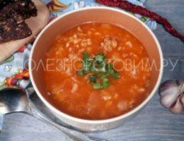 Миниатюра к статье Томатный суп с квашеной капустой из фарша: густой, наваристый, простой в приготовлении