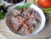 Миниатюра к статье Тушеная печень в сырном соусе: вкуснейший рецепт приготовления печени